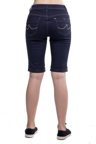 Bermuda Jeans Eventual Mid Rise Middle Plus Azul - comprar online