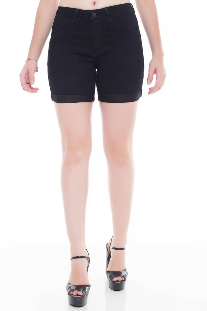 Shorts Jeans Jeans Eventual Middle Mid Rise Preto