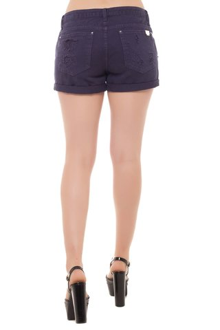 Shorts Jeans Mid Drop Eventual Roxo - loja online