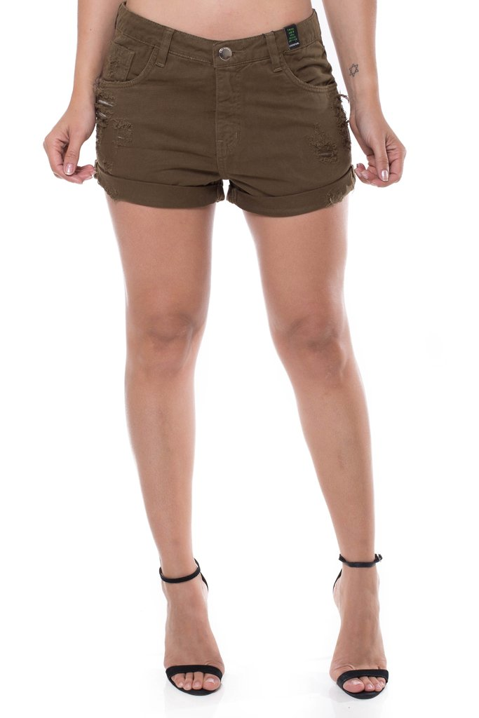Shorts Jeans Mid Drop Eventual Verde