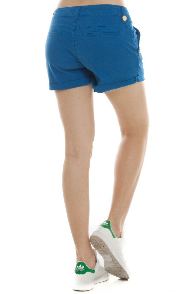 Shorts Jeans Eventual Mid Drop Azul Bic na internet