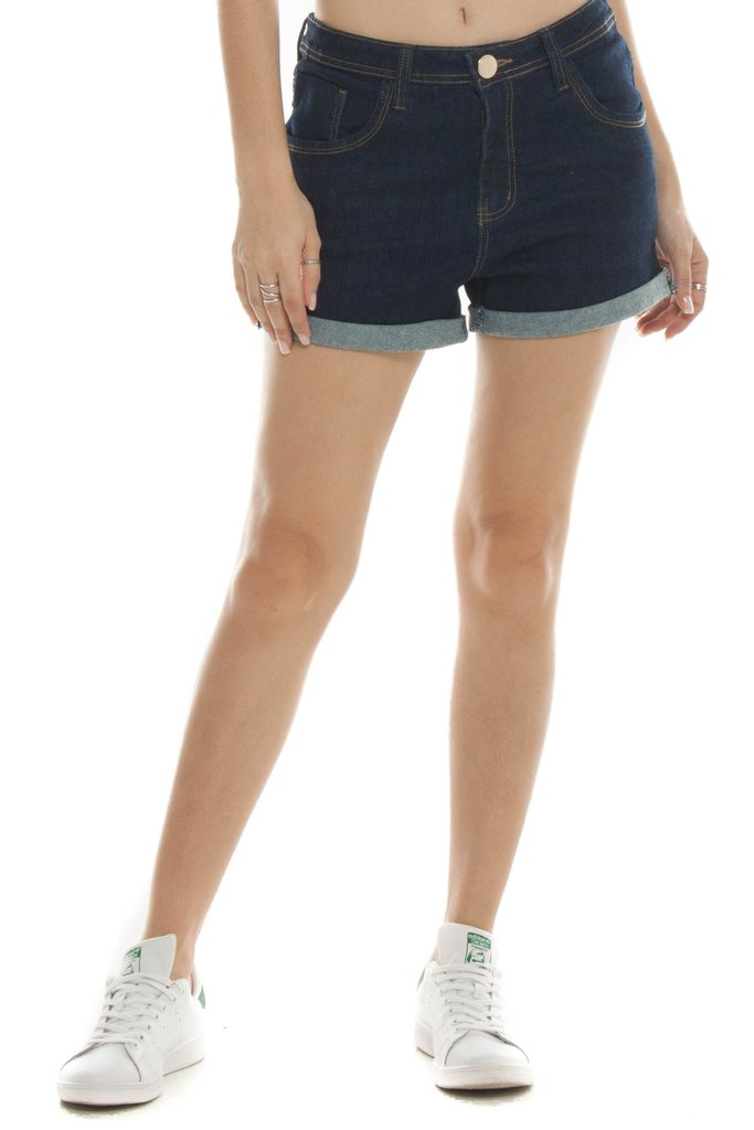 Shorts Jeans Eventual Mid Drop Azul