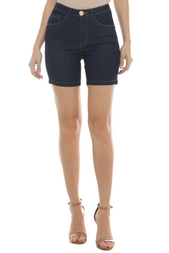 Shorts Jeans Eventual Mid Rise Middle Azul