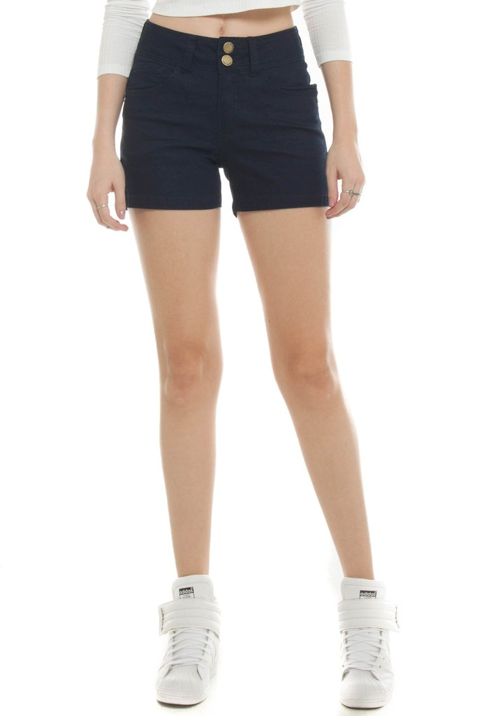 Shorts Jeans Eventual Mid Rise Angie Plus Azul