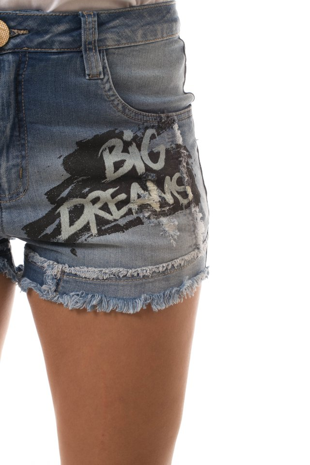 Shorts Jeans Eventual Mid Drop Azul na internet