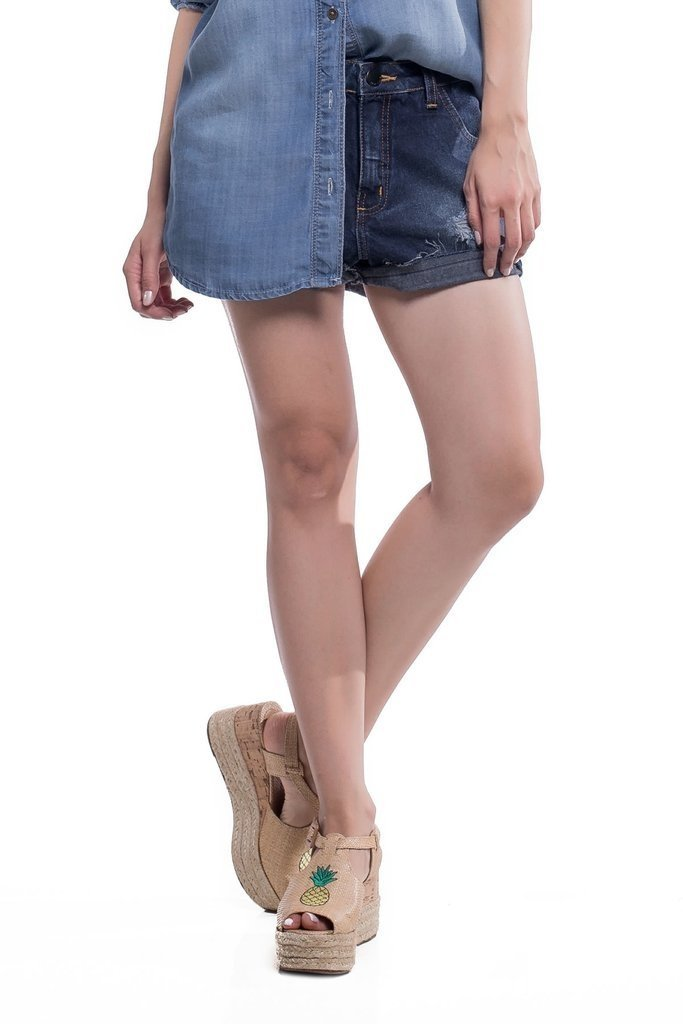 Shorts Jeans Jeans Eventual Mid Drop Azul