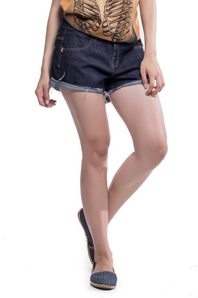 Shorts Jeans Jeans Eventual Ease Cor Preto