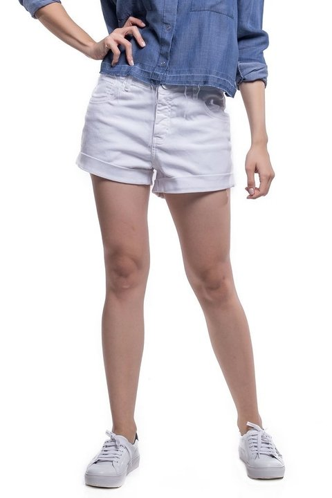 Shorts Jeans Jeans Eventual Mid Drop Branca