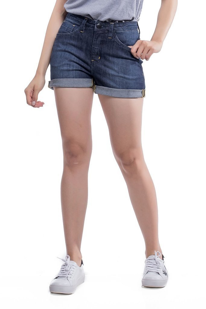 Shorts Jeans Jeans Eventual Angie Plus Mid Rise Azul