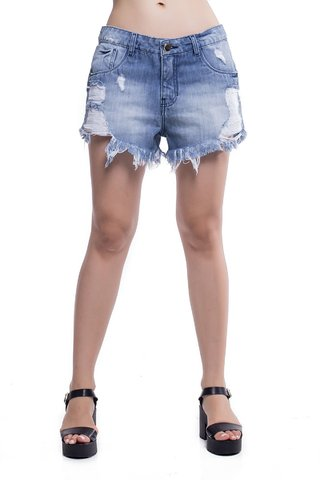 Shorts Jeans Jeans Eventual Mid Drop Azul na internet