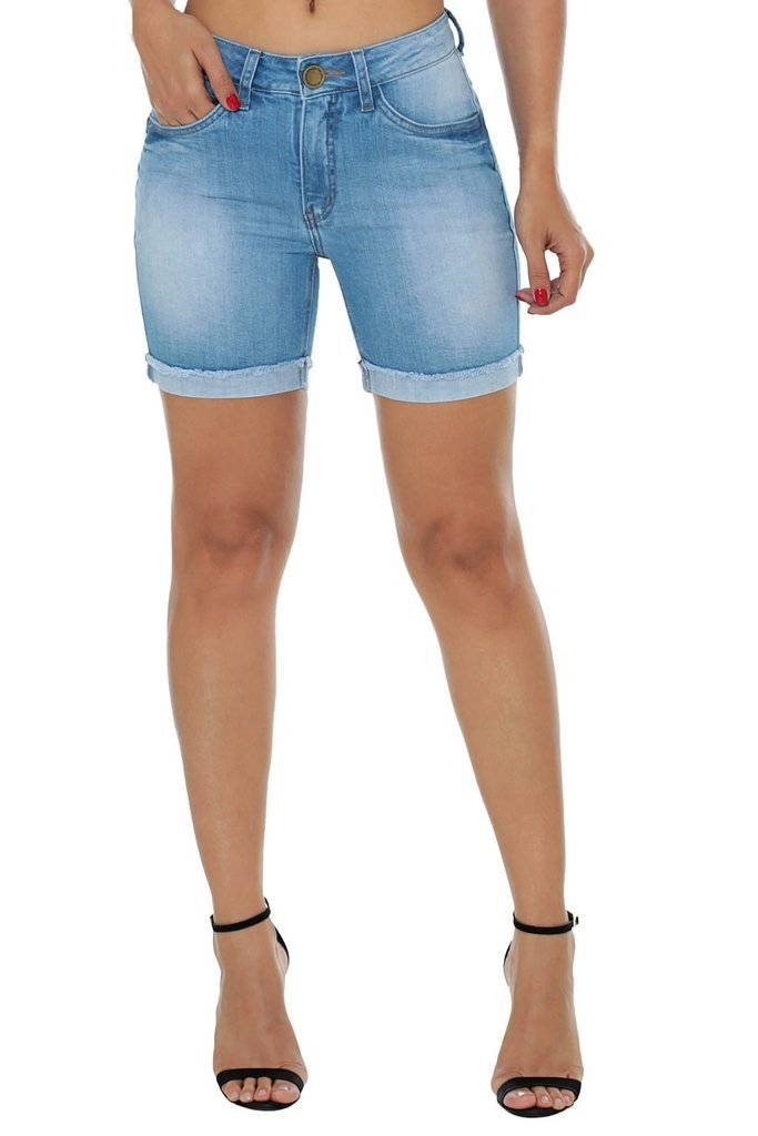 Shorts Eventual Mid Rise Middle Azul