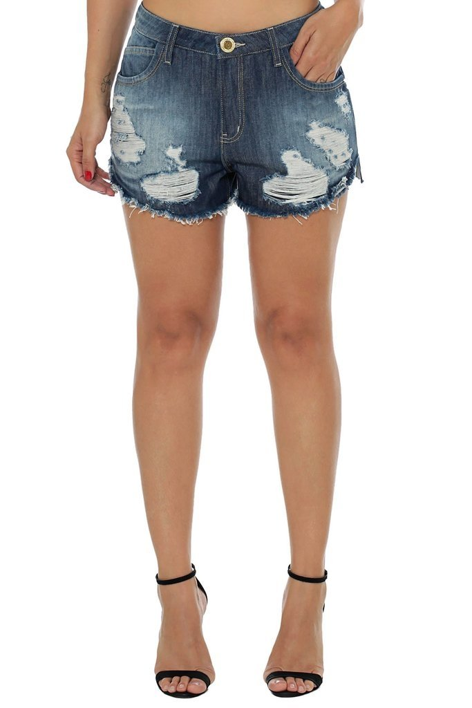 Shorts Eventual Mid Drop Azul