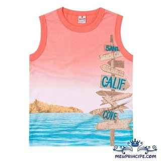 Camiseta Regata Infantil Azul Brandili cbc50e26dfe