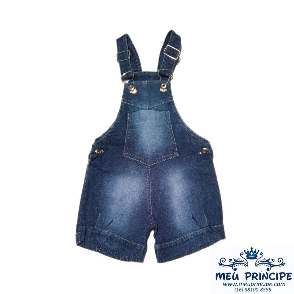 Jardineira jeans infantil for Jardineira jeans c a