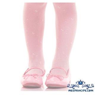 02ea081122e192 Meia Calça Infantil Rosa Bebê Estampada