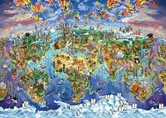 Maria Rabinky: World Wonders Illustrated Map, 2000p
