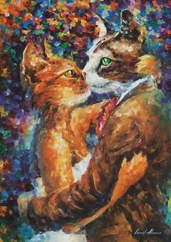 Leonid Afremov: Dance of the Cats in Love, 1000p