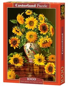 Sunflowers in a Peacock Vase, 1000p - comprar online