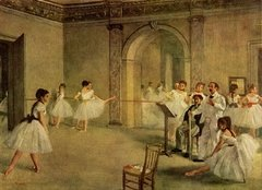 Degas: The Dance Foyer at the Opera, 1000p