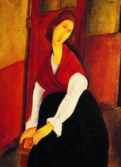 Modigliani: Jeanne Hebuterne in Red Shawl, 1000p