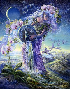 Josephine Wall: Zodiac Sign - Aquarius, 1000p