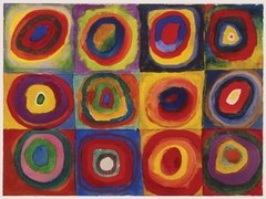 Kandinsky: Color Study of Squares and Circles, 1500p