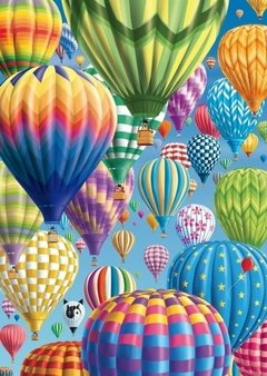 Colorful Balloons in the Sky, 1000p