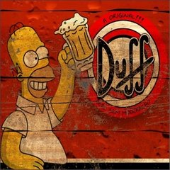 Placa decorativa - Duff