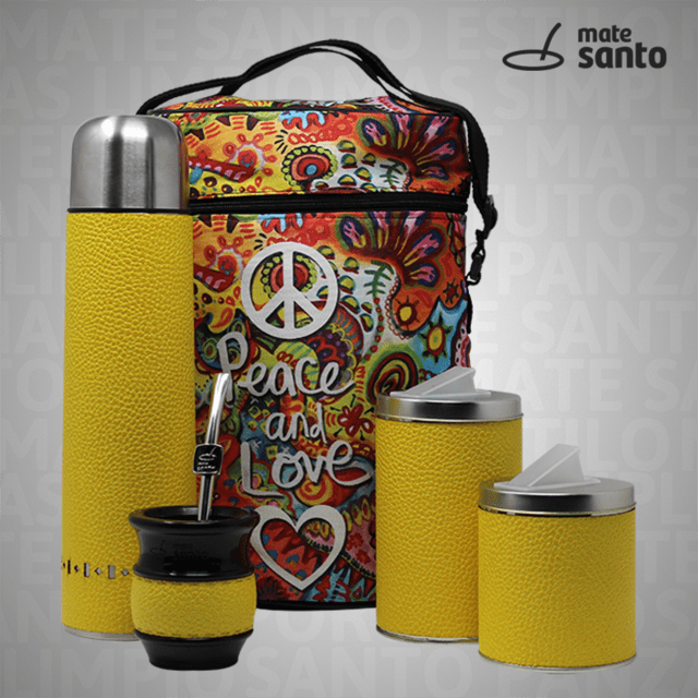 PEACE & LOVE / AMARILLO GRANEADO en internet