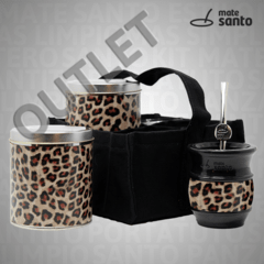 SET DE ESCRITORIO NEGRO ANIMAL PRINT