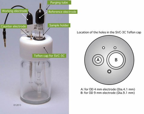 SVC-3C Oxygen-free Voltammetry cell - for application at low temperature (012013)