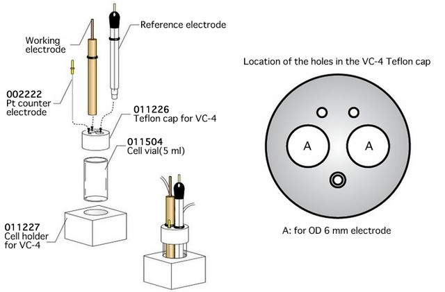 VC-4 Voltammetry cell (011224)