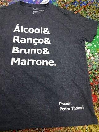 Camisa personalizada (Cor - 100% algodão - Estampa em Silk em 1 cor- frente)