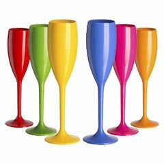12 Taças Champagne Acrílico 160 ml