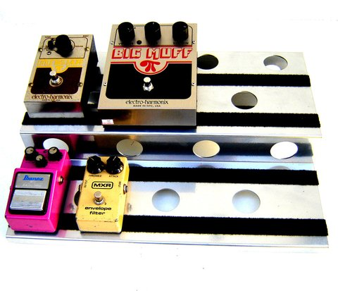 Pedalboard Pedal Hole Silver