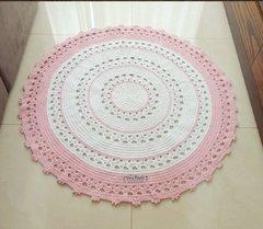 Tapete branco e rosa - Baby Roberta