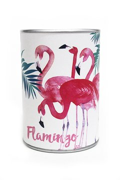 Cofre Latinha Flamingo na internet