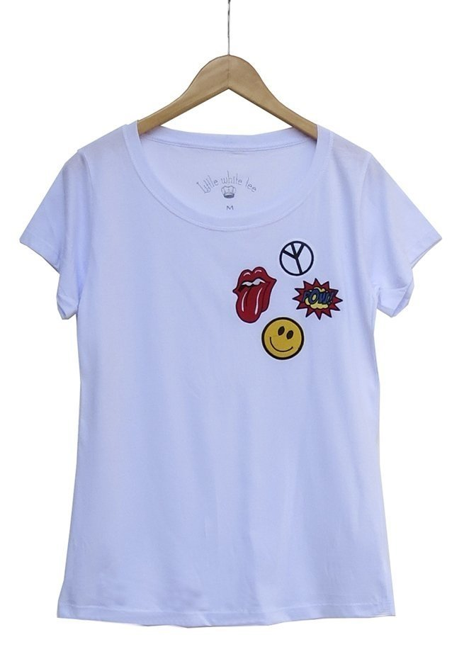 v 204 Camiseta patches SMILEY - comprar online