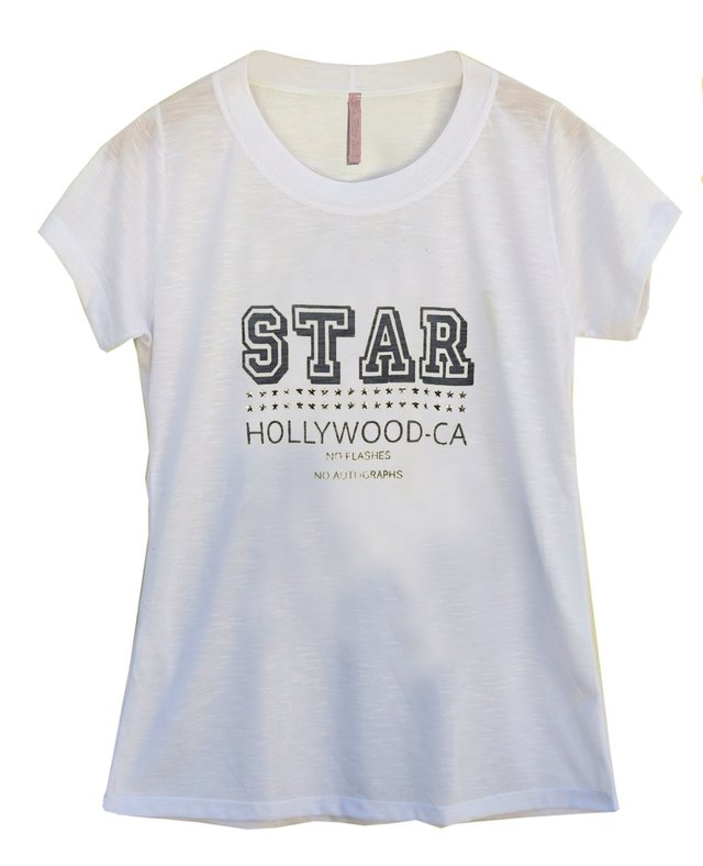 Camiseta Little White Tee Star CA branca