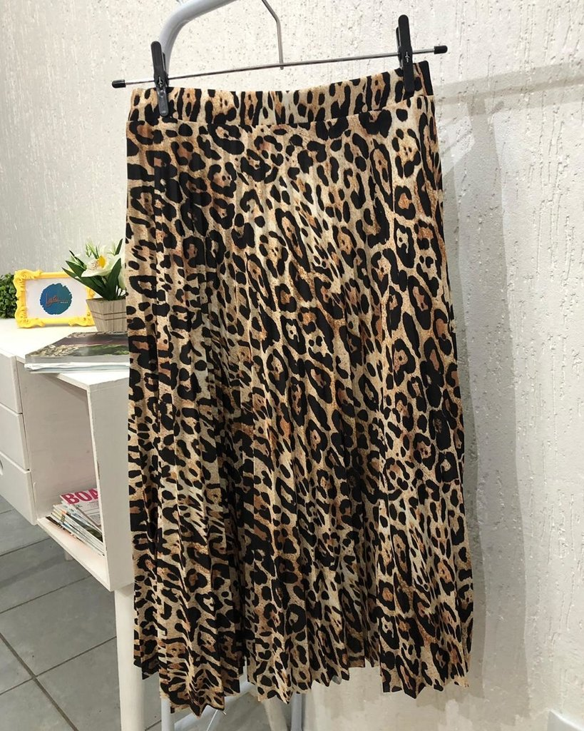 b1a32a26c Saia Plissada Midi Animal Print - Comprar em Lyli Wear
