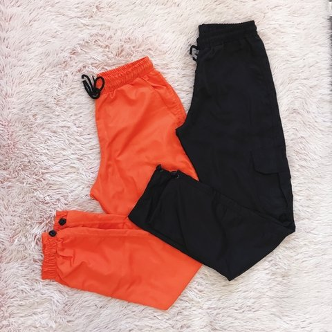 Combo Jogger Tactel Orange + Cargo Tactel preta