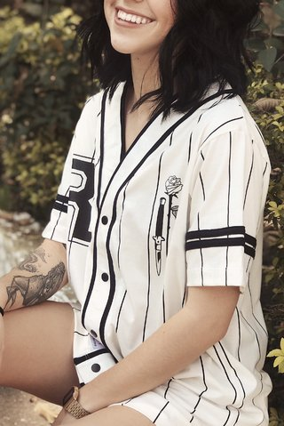 CAMISETA BASEBALL LOVE & HATE II - Loja Riot