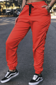 CALÇA JOGGER TACTEL ORANGE