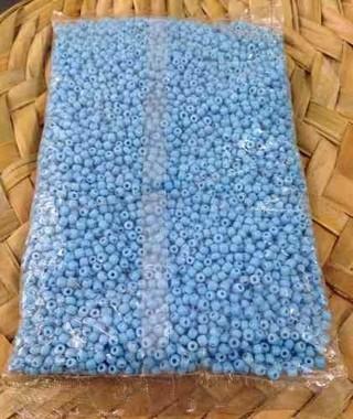 Miçanga - Azul Clara - Porcelana - 70gr - 6/0