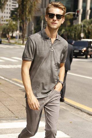 Camisa Polo Estampada - comprar online  Camisa Polo Estampada ... 451131a83c838