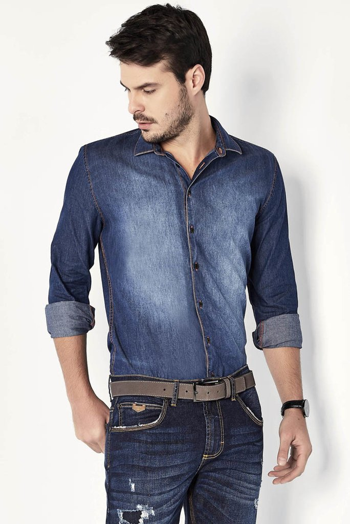 Camisa Jeans Square