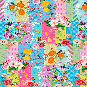 Papel Muresco Patchwork&Flores