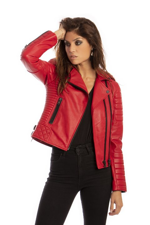 Lady Rider Red Jacket