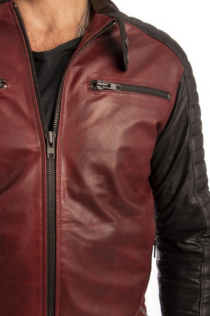Campera Coffee Racer Bordo