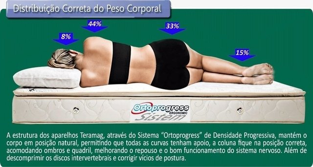 Line Colors Brown White com Vibromassagem Solteiro 0,88 x 1,88 x 30 cm - comprar online
